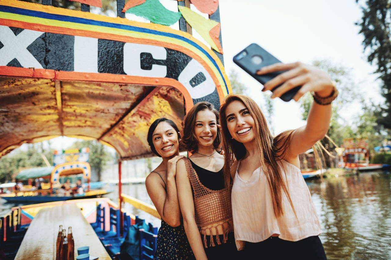 Mexican millennial women enjoying their lifestyles
