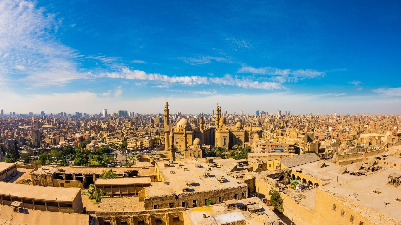 Panoramic view from the citadel of Cairo, Egypt
