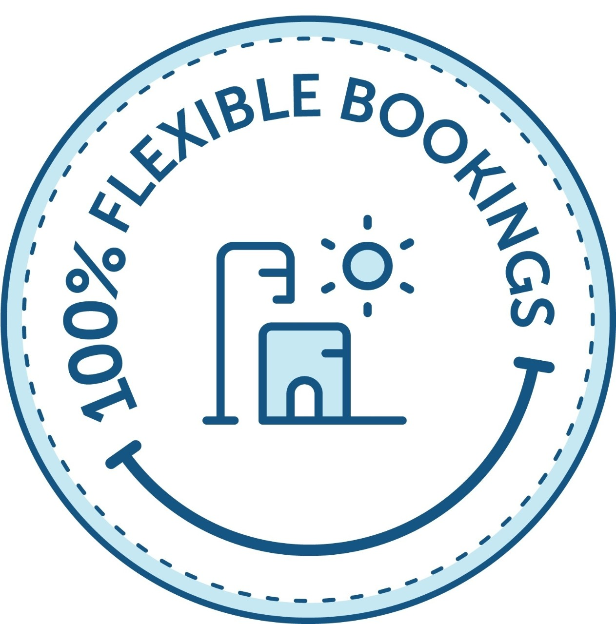 100% flexible booking